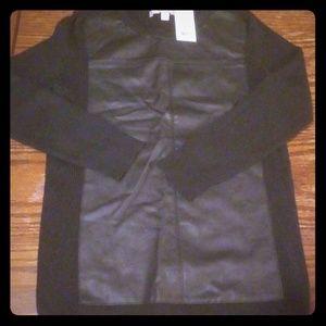 Black leather shirt